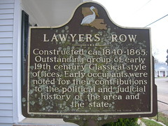 Lawyer's Row Historic Marker