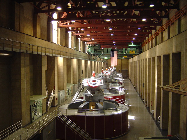 Turbine Hall inside Hoover Dam Wall Las Vegas Nevada from https://www.tipsfortravellers.com