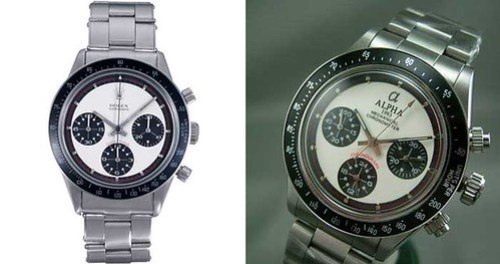 Rolex Paul Newman and Alpha Paul Newman comparison