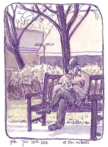 purple pen at lunchtime