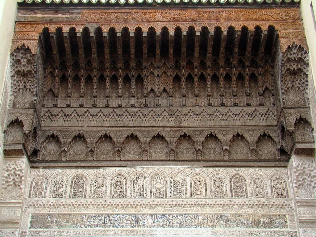 Marruecos artesonado Medina de Fez 18