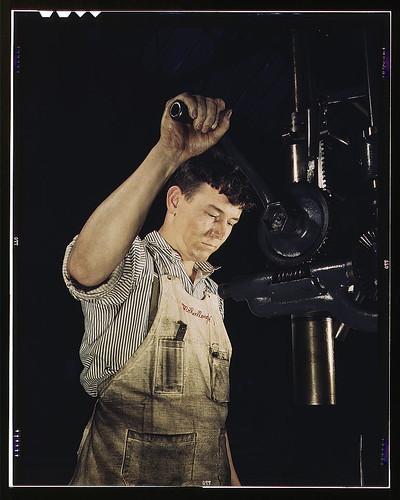 Drill press operator, Allegheny Ludlum Steel[e] Corp., Brackenridge, Pa. (LOC)