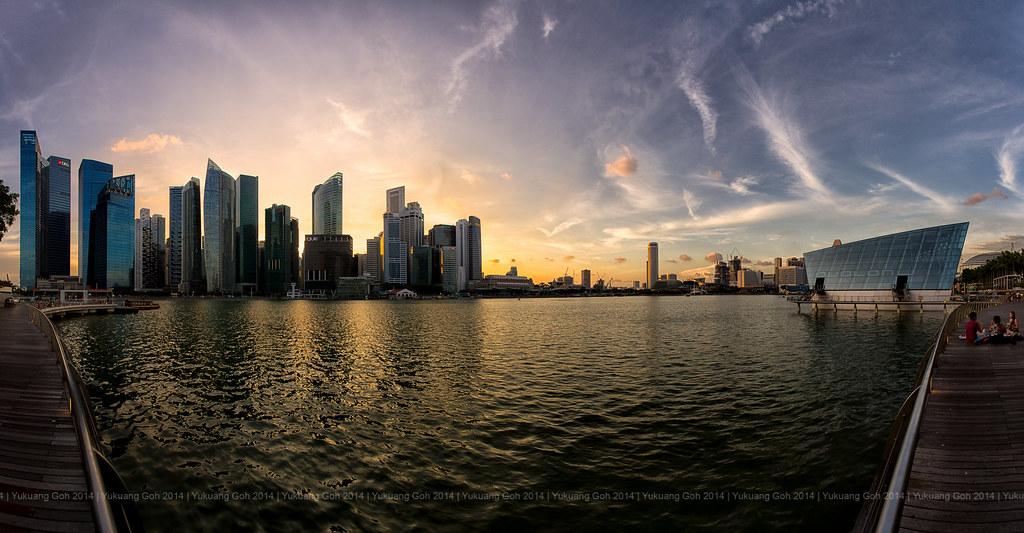 Sunset by Marina Bay