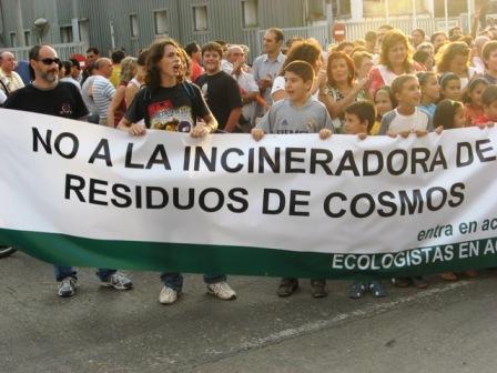 Movimientos contra la Incineradora.