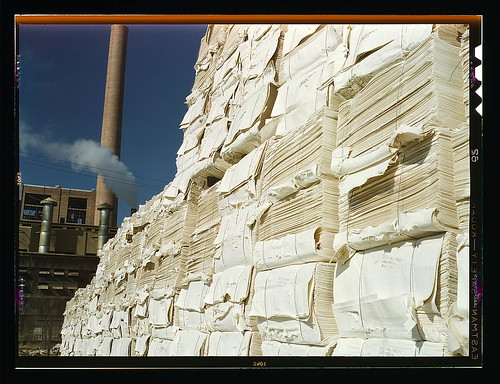 Southland Paper mill, Kraft (chemical) pulp used in making newsprint, Lufkin, Texas (LOC)