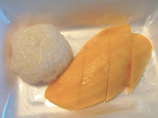 Sticky rice and mango at the airport