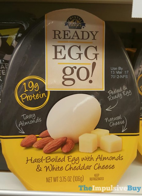 Crystal Farms Ready Egg Go! with Almonds & White Cheddar Cheese