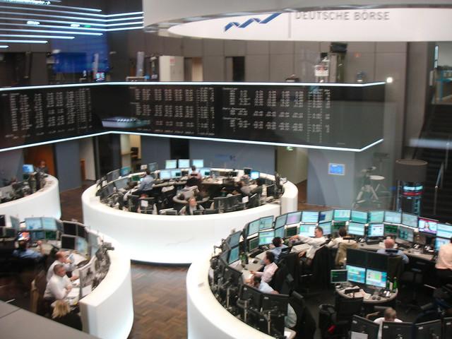 Deutsche Borse trading floor