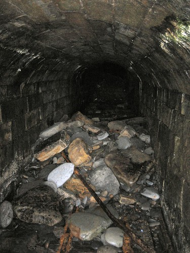 Boulby Alum Tunnel washed in stones