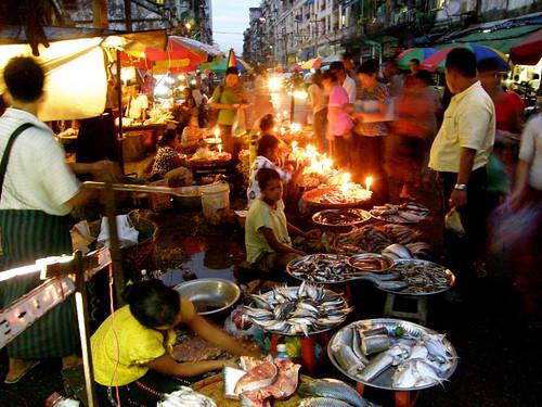 Night Market on Anawrahta Road, Yangon