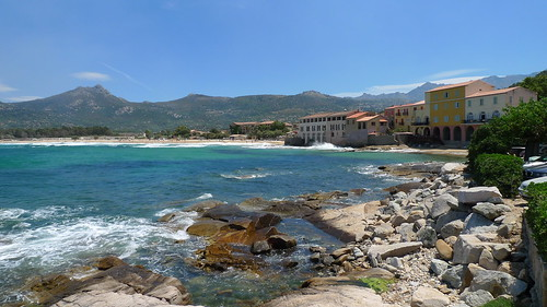 A stunning view of Algajola Beach, Corsica