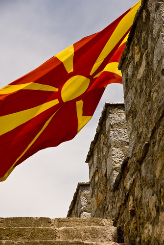 Bandera de Macedonia / Fuente: Flickr, keepwaddling1