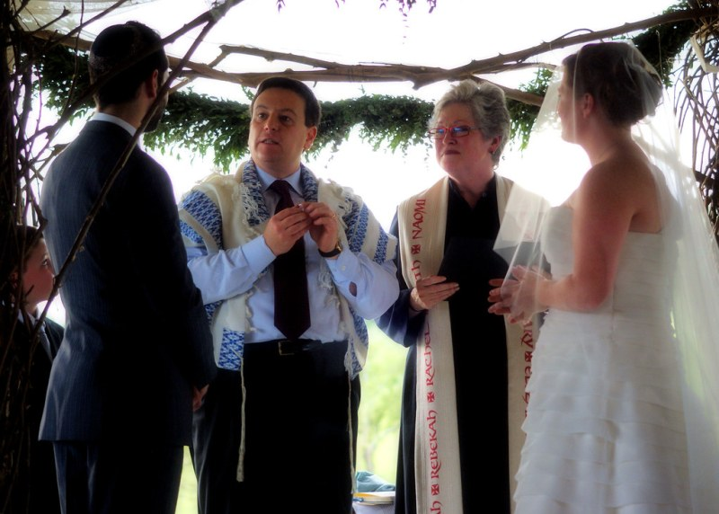 A rabbi and a minister walk into a chuppah…