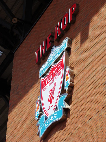 The Kop and Liverpool crest