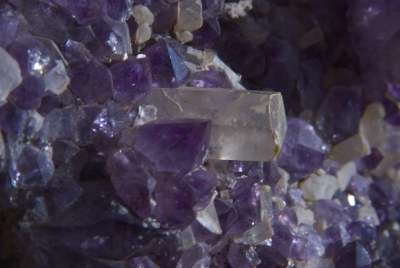 Amethyst and quartz
