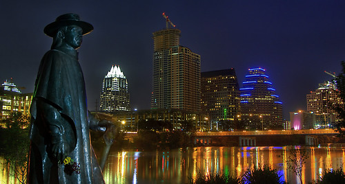 Stevie Ray Vaughan and Austin Skyline (HDR)