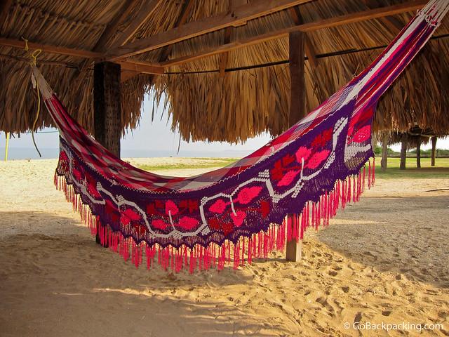 Colorful Wayuu hammock