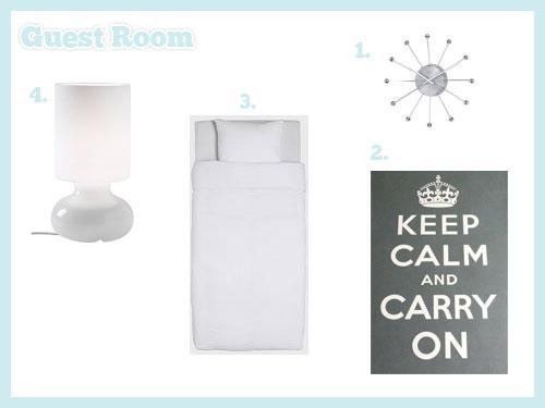 Guest Room Mood Board