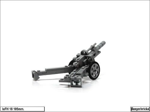 leFH 18 de 105mm. de Panzerbricks