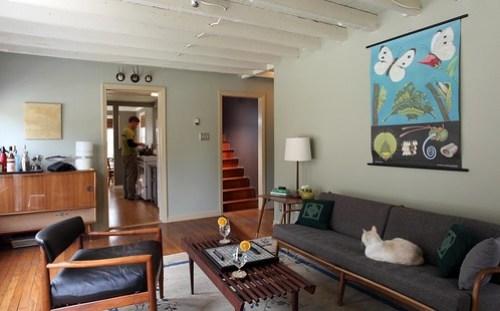 Living Room Danish Modern Influenced