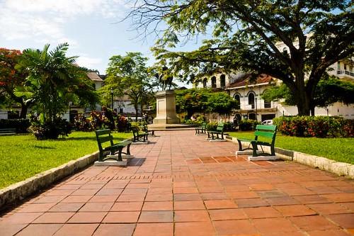 Caminando por la plaza