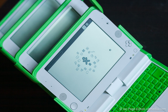 OLPC XOs screens
