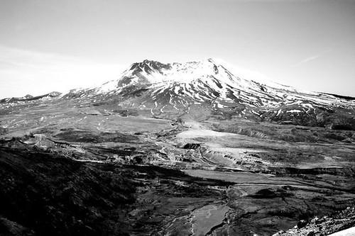 Mt. St. Helen's B&W