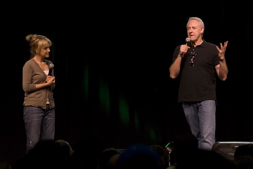 Brent Spiner and Hallie Todd
