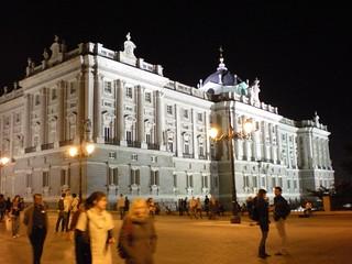 Madrid -Palacio Real noche