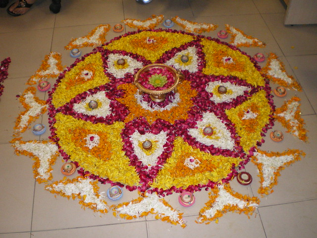 Floral rangoli design