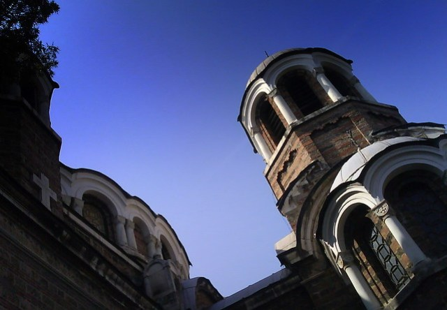 Church towers in Sofia