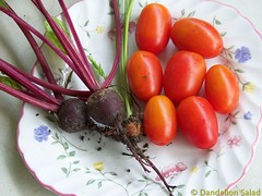 Beets, Carrot and Tomatoes