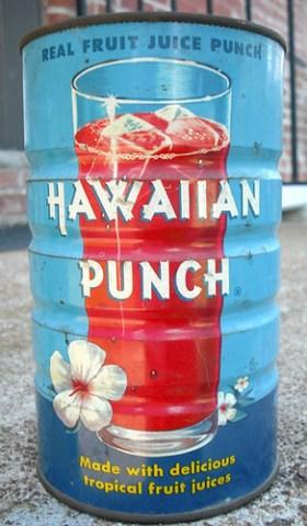Vintage 1955 Hawaiian Punch Tin Can
