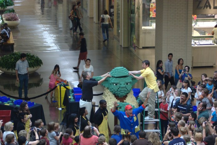 LEGO Store Grand Opening Celebration: Help Build an 8-Foot Tall Yoda Model on July 24