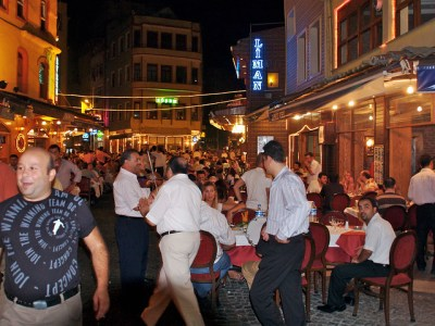 Turkey, Istanbul Dinner at Neyzen Restaurant, Fish Market Area