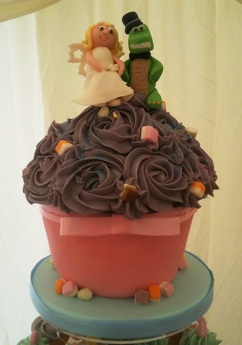 Mel & Mark's Wedding Cupcake Tower - Cirencester Football Club