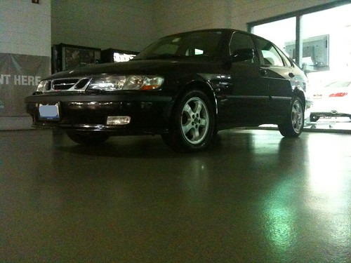 Saab at service dealer