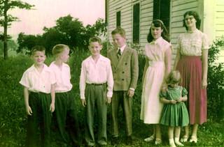 Hopper Children dressed for Church