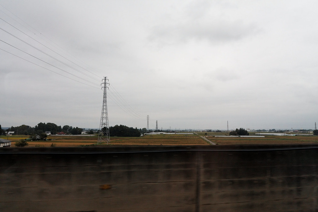 A view from the Tohoku line bullet train