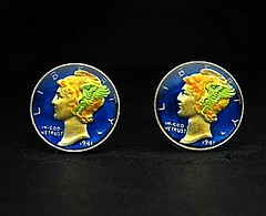 woc668 USA enamelled coin cufflinks by wowcoin