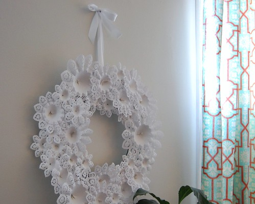 doily christmas wreath