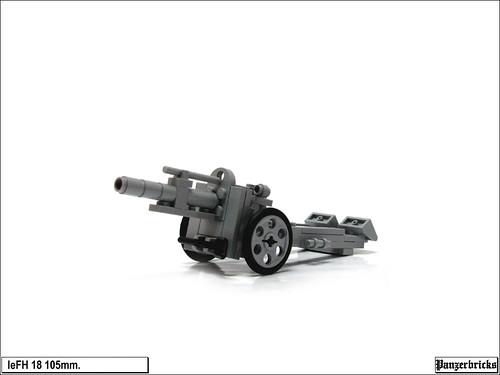 leFH 18 105mm. de Panzerbricks