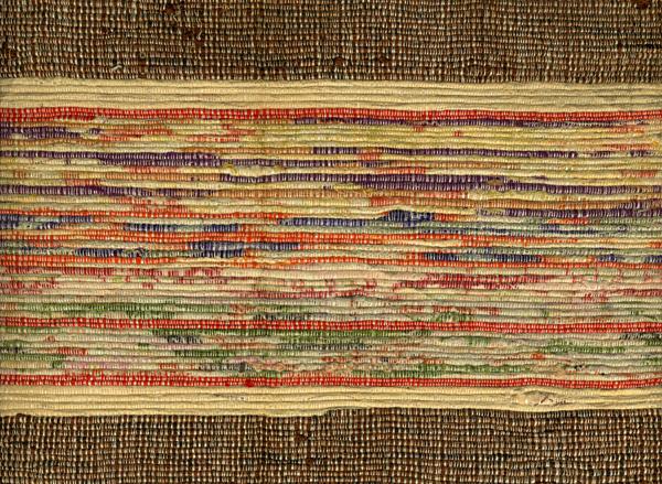 Saki-ori obi, Woven rag textile; Japan; 20th century