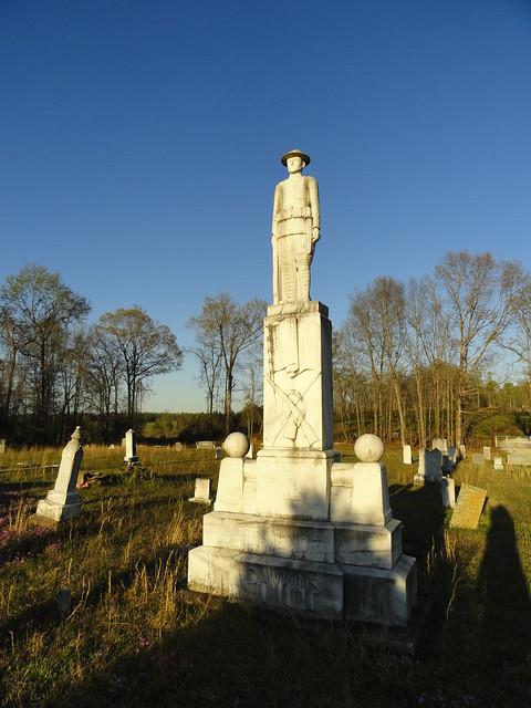 B.O. Dawkins Monument, Around Cragford AL