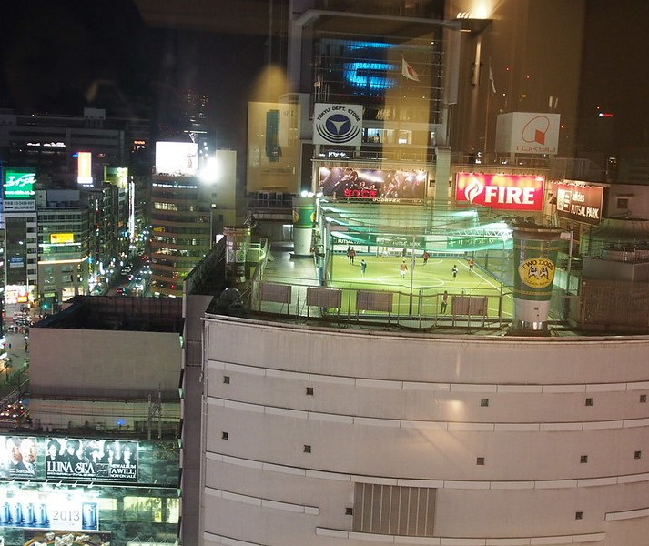 Shibuya rooftop soccer field