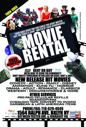 Movie Rental Flyer 4X6