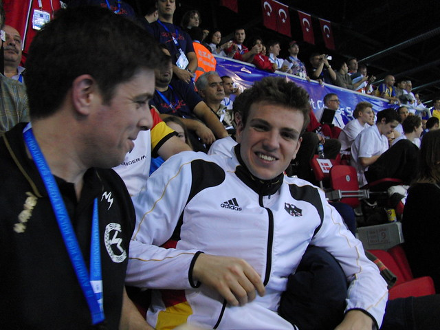 Me and Biedermann at the Istanbul 2009 Europeans