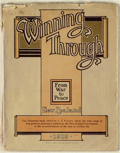 Winning through from war to peace: New Zealand - Cover