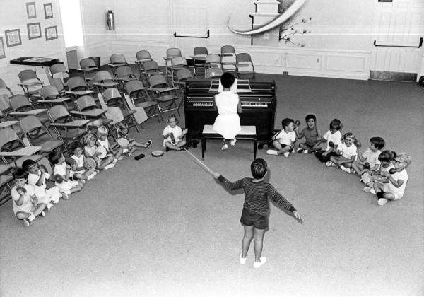 Pine Crest School students in a music class: Fort Lauderdale, Florida