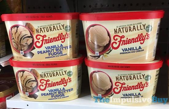 Naturally Friendly's Vanilla Peanut Butter Fudge and Vanilla Premium Ice Creams